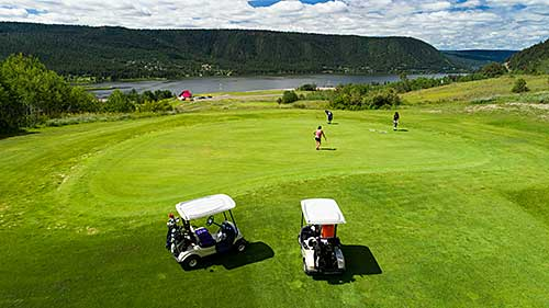 Golfing at Coyote Rock in Williams Lake